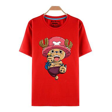 Inspirado por One Piece Tony Tony Chopper Anime Fantasias de Cosplay Cosplay T-shirt Estampado Manga Curta Blusa Para Unisexo