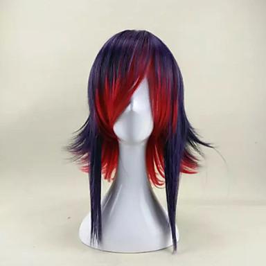 Fuel ny ankomst stilig blanding farge lang rett syntetisk hår parykk for halloween fest parykk
