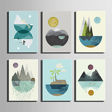 Landscape Canvas Tulosta One Panel Valmis Hang,Pysty