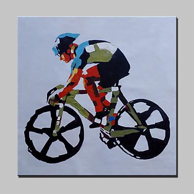 Handgemalte Abstrakt / Menschen / Cartoon Design / Abstrakte Porträt / POPModern Ein Panel Leinwand Hang-Ölgemälde For Haus Dekoration