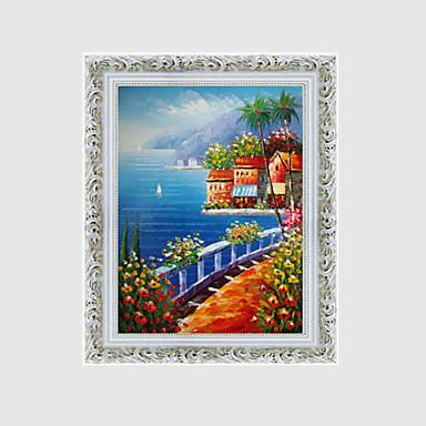 handgemalte Landschaft / Blumen / Pflanzen im europäischen Stil Ölgemälde, Leinwand ein Panel