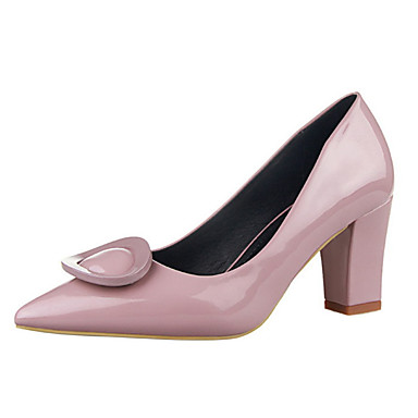 Magassarkú-Vastag-Női cipő-Magassarkú-Alkalmi-PU-Fekete / Kék / Lila / Piros / Szürke / Mandula
