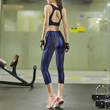 Naisten Juoksuhousut Nopea kuivuminen Hengittävä Puristus Hikeä siirtävä Pyöräily Sukkahousut Leggingsit Alaosat varten Jooga Pilates