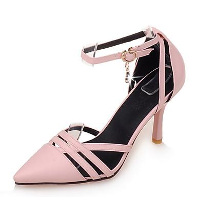 Magassarkú / D'Orsay és kétrészes / Hegyes orrú-Stiletto-Női cipő-Magassarkú-Irodai / Ruha-Bőrutánzat-Fekete / Rózsaszín / Bézs