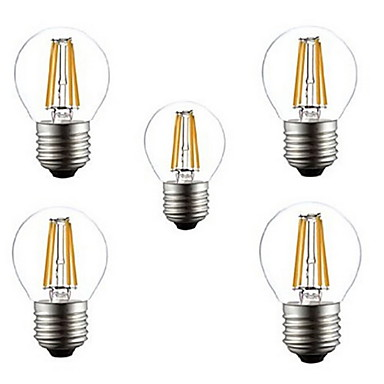 5pcs 400LM E26 / E27 LED-glødepærer G45 4 LED perler Høyeffekts-LED Dekorativ Varm hvit / Kjølig hvit 220-240 V / 5 stk. / RoHs / CCC