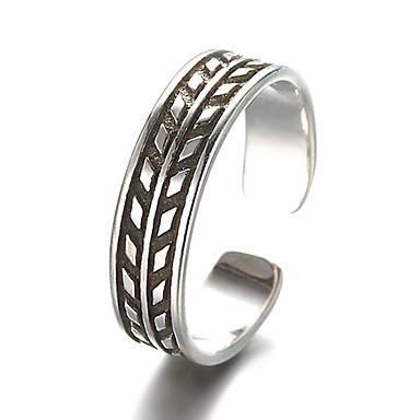 Ringe Vintage Alltag / Normal Schmuck Sterling Silber Bandringe 1 Stück,Verstellbar Silber