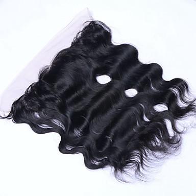 szűz brazil teljes csipke elülső lezárását 13x4 fülig csipke frontális baba haj ingyenes / középső / 3 rész