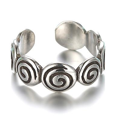 levne Fashion Ring-Řemeslník Band Ring Nastavitelný kroužek prstenec Stříbro Stříbrná dámy Vintage Fashion Ring Šperky Stříbrná Pro Denní Ležérní Cosplay kostýmy Nastavitelný
