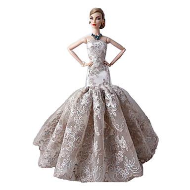 Feest/Avond Jurken Voor Barbiepop Kant Satiini Kleding Voor voor meisjes Speelgoedpop