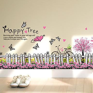 Worte & Zitate Mode Blumen Wand-Sticker Flugzeug-Wand Sticker Dekorative Wand Sticker Stoff Abziehbar Haus Dekoration Wandtattoo