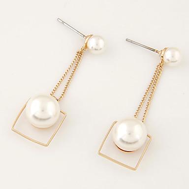 Tropfen-Ohrringe Perle Künstliche Perle Aleación Künstliche Perle Modisch Golden Schmuck Party Alltag Normal 1 Paar