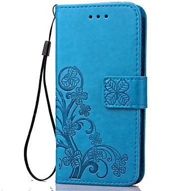 Capinha Para Samsung Galaxy Samsung Galaxy Capinhas Porta-Cartão Carteira Com Suporte Flip Com Relevo Capa Proteção Completa Flor Macia