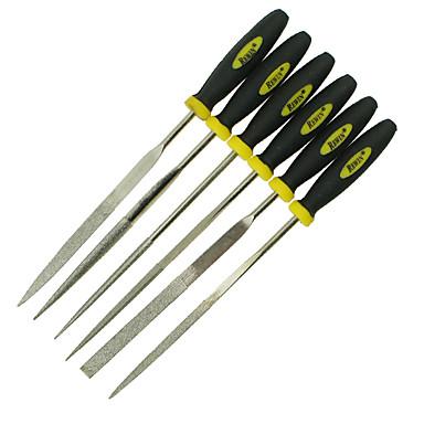 rewin® verktøy kulelager i stål og kunstig mur galvanisering 6 stykker diamant filer størrelse: φ4mm * 160mm