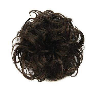 Synthetische Perücken / Chignons / Haarknoten Locken / Klassisch Stufenhaarschnitt Synthetische Haare Updo Perücke Damen Kurz
