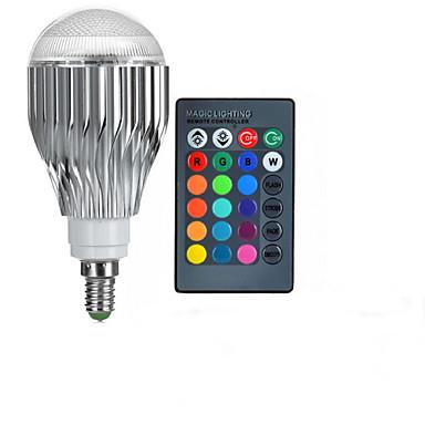 10W E14 LED gömbbúrás izzók A50 1 led Nagyteljesítményű LED Távvezérlésű RGB 600-800lm 2000-3500K AC 85-265V