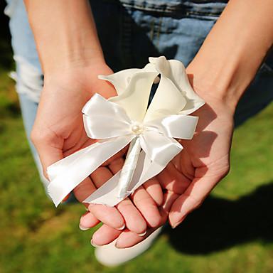 Bouquets de Noiva Alfinetes de Lapela Casamento / Festa / Noite Seda / Cetim 0.39 polegada