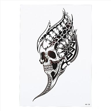 8pcs Schädel Drachen Schwalbenvogel Tätowierung temporäre Frauen Männer Blume Arm Body Art Design Tätowierung Aufkleber bar Partei neu