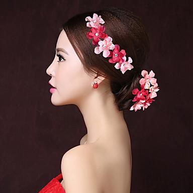 stoffblomster hårklips hodeplagg elegant klassisk feminin stil