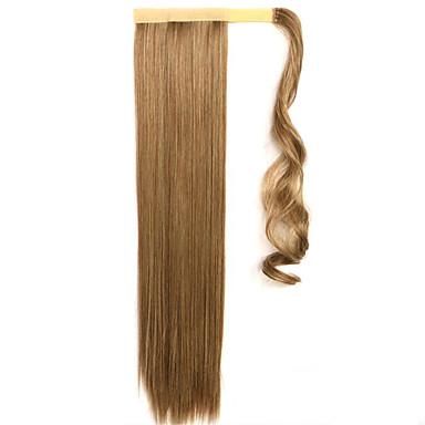 golden 60cm syntetisk høy temperatur wire parykk rett hår hestehale farge 10/86