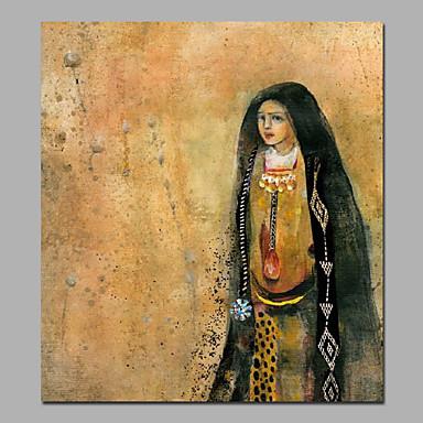 מצויר ביד אנשים מסורתי,פנל אחד ציור שמן צבוע-Hang