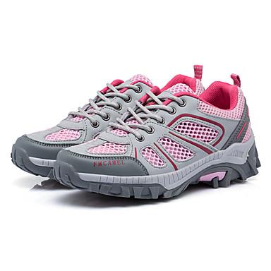 Mulheres Sapatos Couro Ecológico Primavera Verão Outono Conforto Aventura Sem Salto para Ao ar livre Cinzento Verde Rosa claro