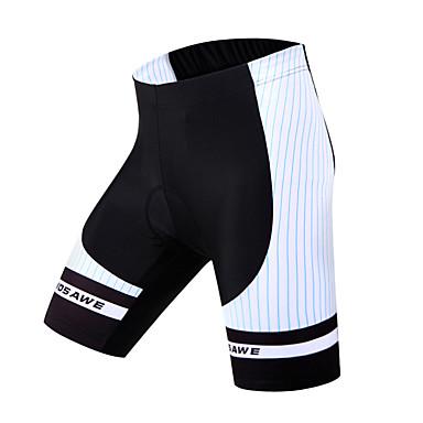 WOSAWE מכנס קצר מרופד לרכיבה לנשים יוניסקס אופניים מכנסיים קצרים שורטים (מכנסיים קצרים) מרופדים תחתיותנושם ייבוש מהיר 3D לוח מגביל