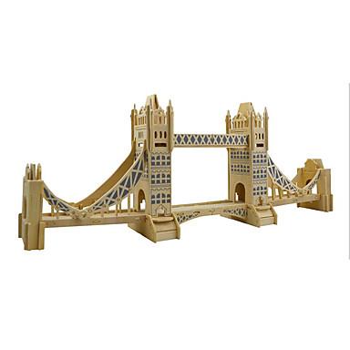 직소 퍼즐 3D퍼즐 / 나무 퍼즐 빌딩 블록 DIY 장난감 유명한 건물 나무 골드 모델 & 조립 장난감