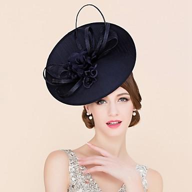 Flachs Stoff Seide Fascinatoren Hüte Kopfbedeckung with Blumig 1pc Hochzeit Besondere Anlässe Normal Kopfschmuck