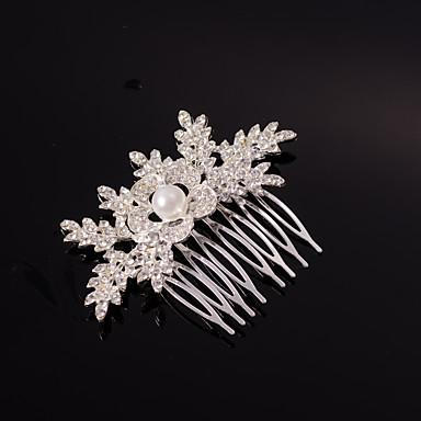 Silber / Gold Blattform Kristallperle Haarkämme für die Hochzeit Partei Dame