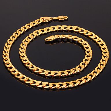 Damen vergoldet Ketten  -  Modisch Kreisform Silber Golden Rotgold Modische Halsketten Für Weihnachts Geschenke Hochzeit Party