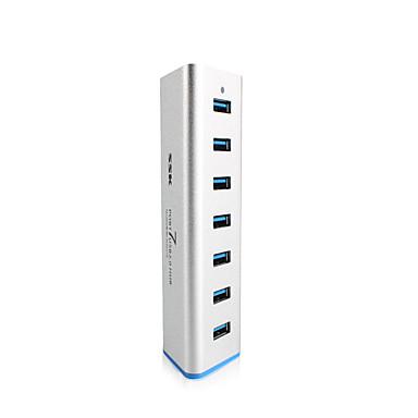 ssk 7 puerto Hub USB 3.0 de shu370 extensor de 5Gbps SuperSpeed aluminio con adaptador de alimentación de 5v 3.5a USB 3.0 divisor