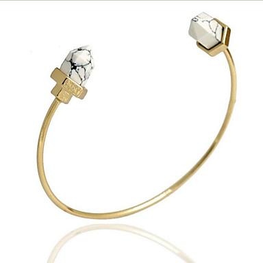 צמידים צמידי חפתים סגסוגת / לשם יומי / קזו'אל תכשיטים מתנות לבן / כחול,1pc
