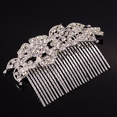 Crystal Rhinestone Alloy Hair Peep Headpiece Estilo clássico feminino