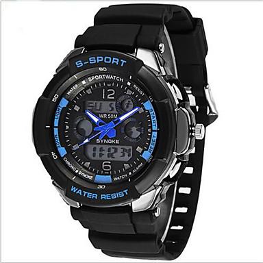 SYNOKE Homme Quartz Numérique Quartz Japonais Montre numérique Montre Bracelet Montre de Sport Alarme Calendrier Chronographe Etanche