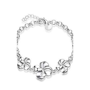 Bracelet Chaînes & Bracelets Zircon / Plaqué argent Mariage / Soirée / Quotidien / Décontracté Bijoux Cadeau Argent,1pc