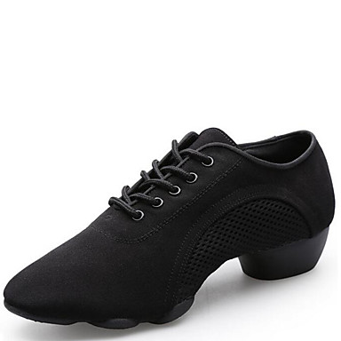 Chaussures de danse(Noir) -Non Personnalisables-Talon Bas-Toile-Moderne