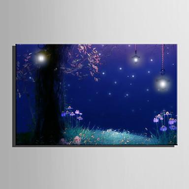 LED Canvas Art L ו-scape סגנון ארופאי / מודרני,פנל אחד בד מאוזן תחריט דקור קיר For קישוט הבית