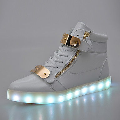 LED Light Up Shoes, Running Shoes Men's Shoes Outdoor / Casual PVC / Glitter Fashion Sneakers Black / White