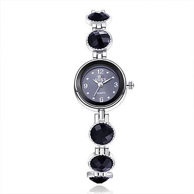 Mulheres Relógio de Moda Bracele Relógio Quartzo Lega Banda Flor Elegantes Preta Preto