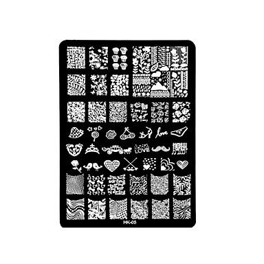 1pc prego impressão placa de aço quadrado