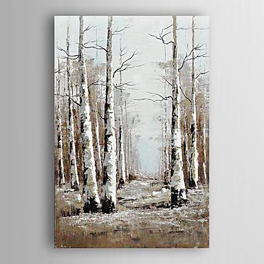 handgemaltes Ölgemälde Landschaft abstrakt Wald mit gestreckten Rahmen 7 Wand ARTS®
