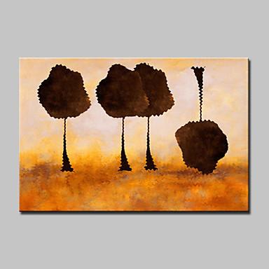 מצויר ביד נוף אבסטרקט מאוזן,מודרני פנל אחד בד ציור שמן צבוע-Hang For קישוט הבית
