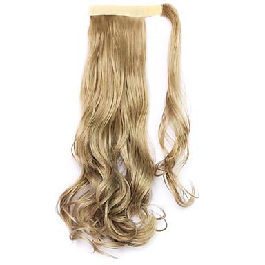 Hestehaler Syntetisk hår Hårstykke Hårpåsætning Krøllet