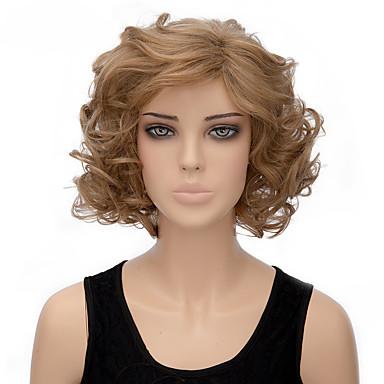 Synthetische Haare Perücken Locken Kappenlos Kurz