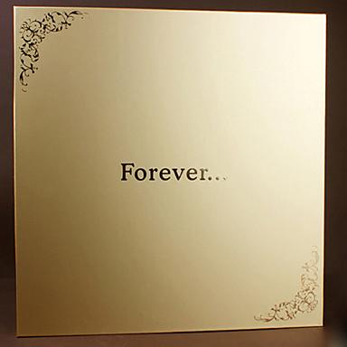 DIY 33 * 32,5 cm 18inch handgefertigt Sammelalbum Fotoalbum 20pcs Vergoldung selbstklebend - für immer für Familie / Baby / Geliebte /
