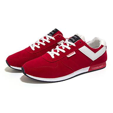 Herre-Fleece-Flat hæl-KomfortFritid-Svart Blå Rød