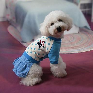 Hunde Kleider Blau Hundekleidung Sommer / Frühling/Herbst Gepunktet Niedlich / Modisch