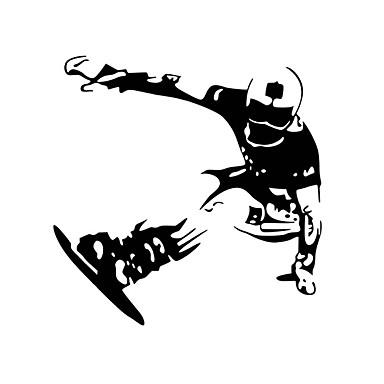 אנימציה / רומנטיקה / לוח גיר / אופנה / חג / נוף / צורות / אנשים / אבסטרקט / פנטזיה / ספורט מדבקות קיר מדבקות קיר מטוס,PVC58cm x 57cm (
