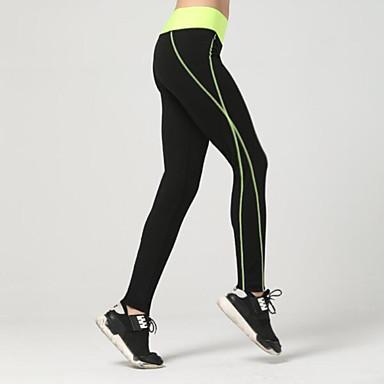 Mulheres Calças de Corrida Respirável Macio Compressão Suave Leggings Calças para Exercício e Atividade Física Corrida Amarelo S M L XL