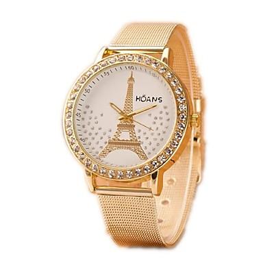 Mulheres Relógio de Moda Simulado Diamante Relógio Quartzo Relógio Casual imitação de diamante Lega Banda Prata Dourada Dourado